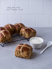 Sticky Date & Chai Hot Cross Buns