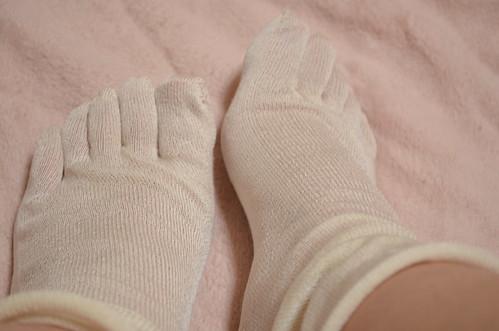 フェリシモ 冷えとり靴下 1枚目シルク