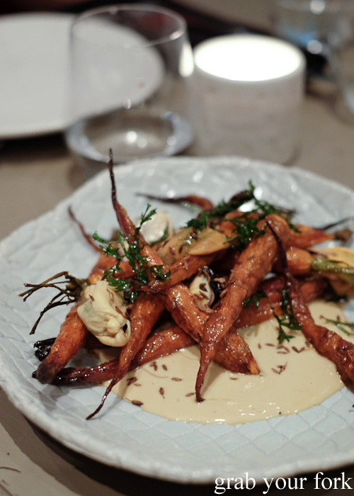 Carrot and musssels at Pinbone, Woollahra