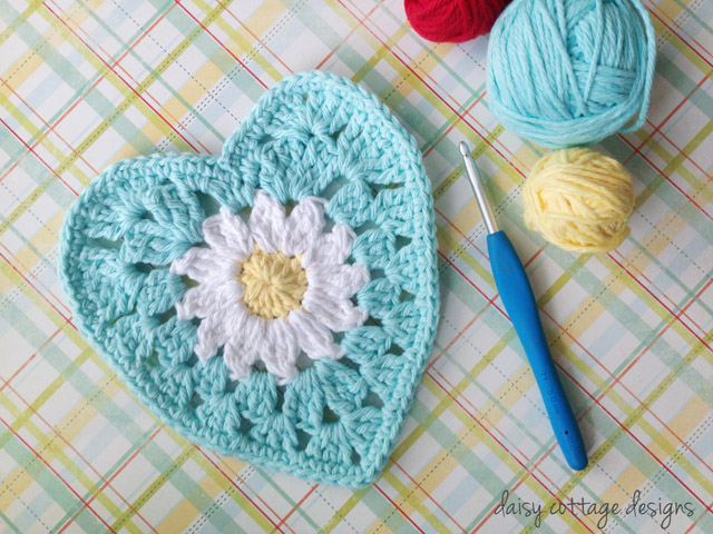 Free Heart Crochet Pattern from Daisy Cottage Designs