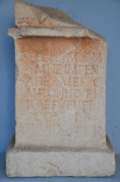 Altar to Mithras (CIMRM 1846), found in Senj (Croatia), Archaeological Museum, Zagreb