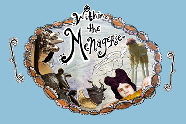 Menagerie Postcard with ObjectsFLAT