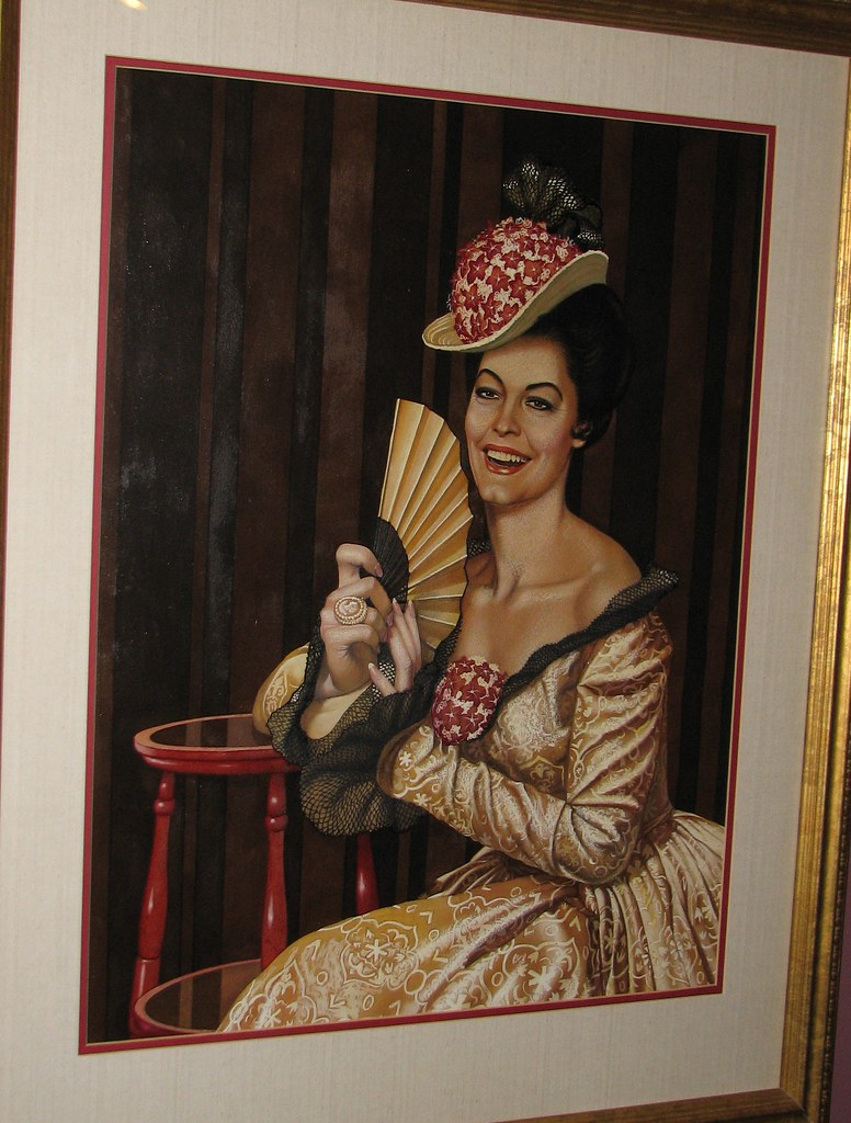 Painting of Ava Gardner by Bert Pfeiffer, on display at the Ava ...
