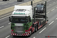 Scania R440 6x2 Tractor with 3 Axle Vehicle Transporter - PN12 XTW - H6503 - Demi Jo - Eddie Stobart - M1 J10 Luton - Steven Gray - IMG_8261