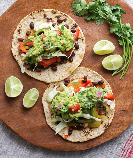 ... your tacos and serve you yours some hearty black bean fajita tacos