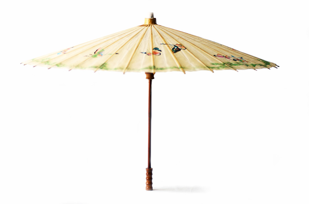 Large Vintage Paper Umbrella Parasol