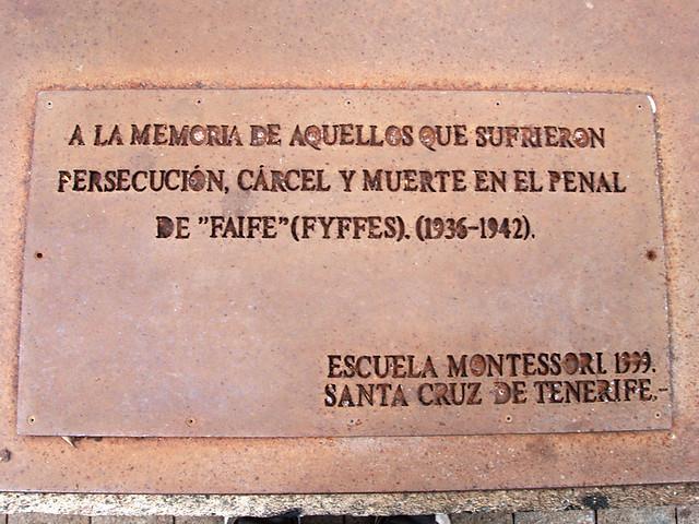 Plaque to the victims of the civil war, La Rambla, Santa Cruz, Tenerife