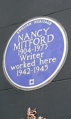 Photo of Nancy Mitford blue plaque