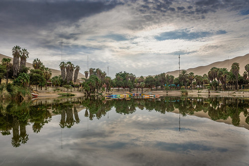 lake reflection peru sunrise canon hdr ica huacachina bracketing 32bitshdr