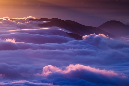 snow mountains clouds sunrise shine slovensko slovakia malafatra