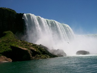 Niagara Falls as seen from the canadian side.