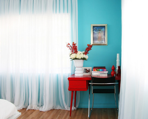 Red and Turquoise Bedroom Decorations Ideas