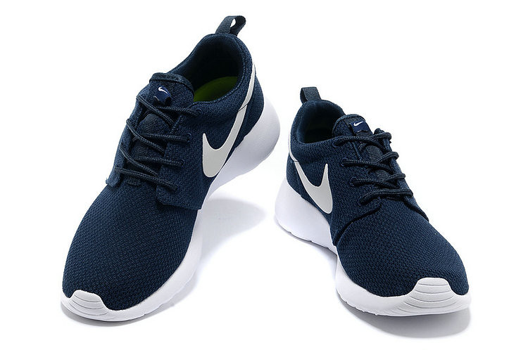 san francisco acb2c aceed ... chaussures nike roshe run id homme bleu marine blanc blanc logo   by  lisabeals0929