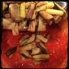 #CucinaDelloZio - #Homemade #Eggplant & #RedLentils - toss in the eggplant
