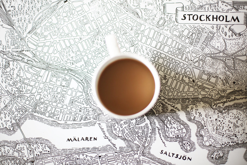 kaffe och underlägg
