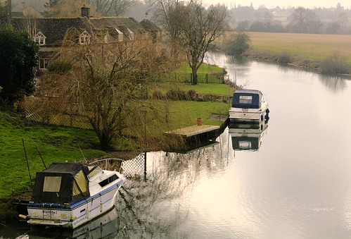 uk winter england english misty rural river landscape boats countryside britain rivers fields british nene counties rivernene cambs 2015 wansford swaine