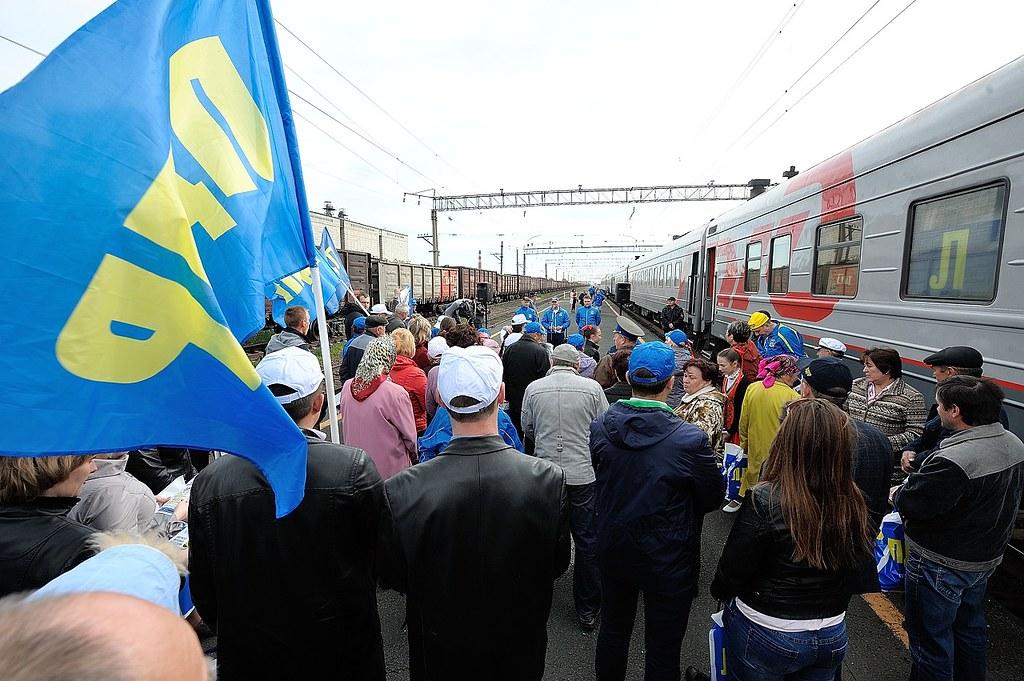 По Курской области прокатился агитационный поезд ЛДПР
