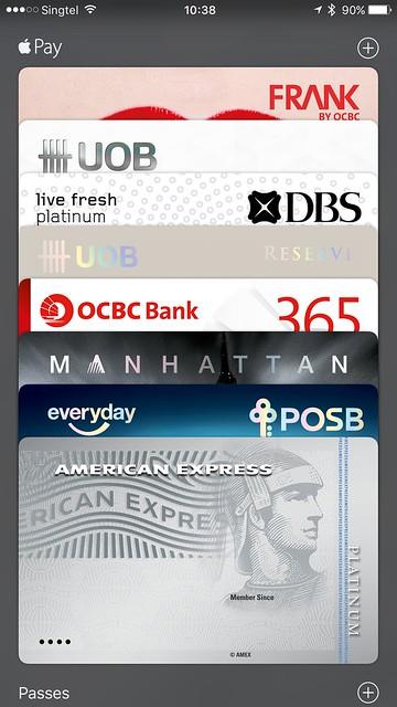 Apple Pay (Singapore) - VISA/MasterCard - Wallet