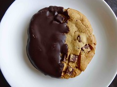 chocolate covered chocolate chip cookie from Cafe…