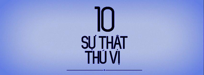 10  sự thật thú vị.