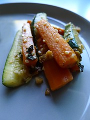 Carrots and Zucchini with Garlic and Ginger
