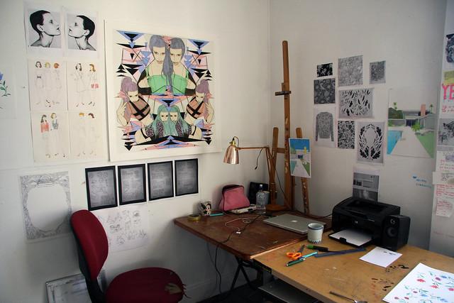 my studio / my desk