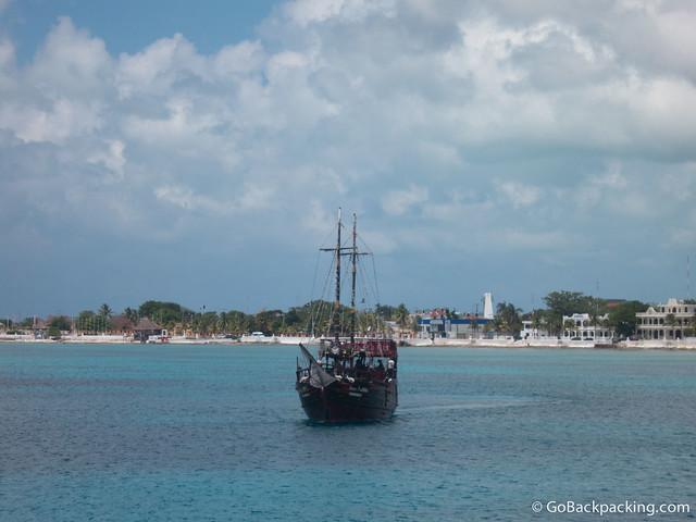 Approaching Cozumel