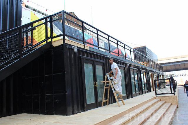 South Street Seaport Shipping Container Beer Garden And Shops Flickr Photo Sharing