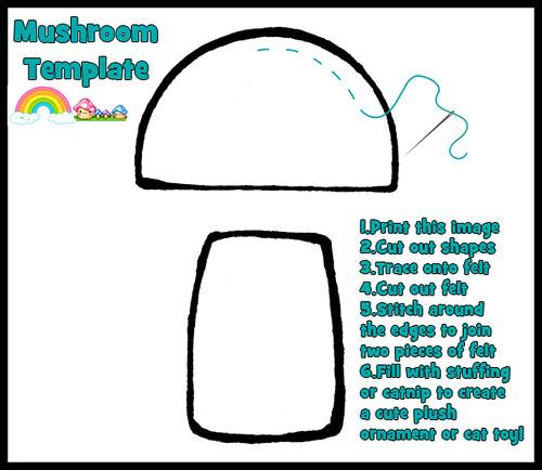 Felt Mushroom Template