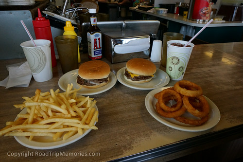 Dinner at the Lemon Drop Drive-in, Anderson, Indiana