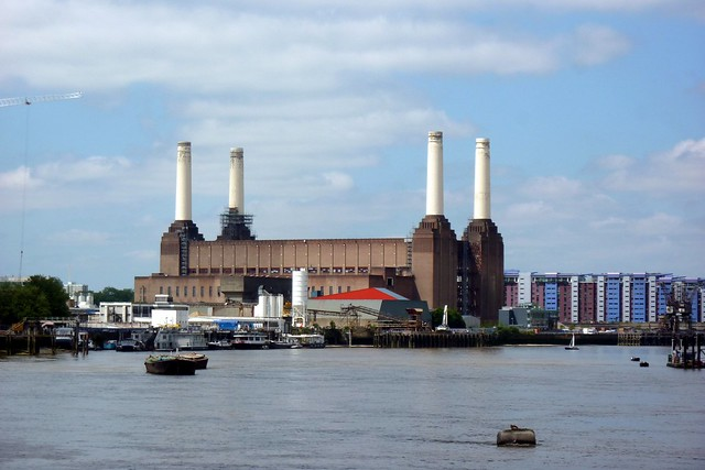Battersea Power Station in the distance