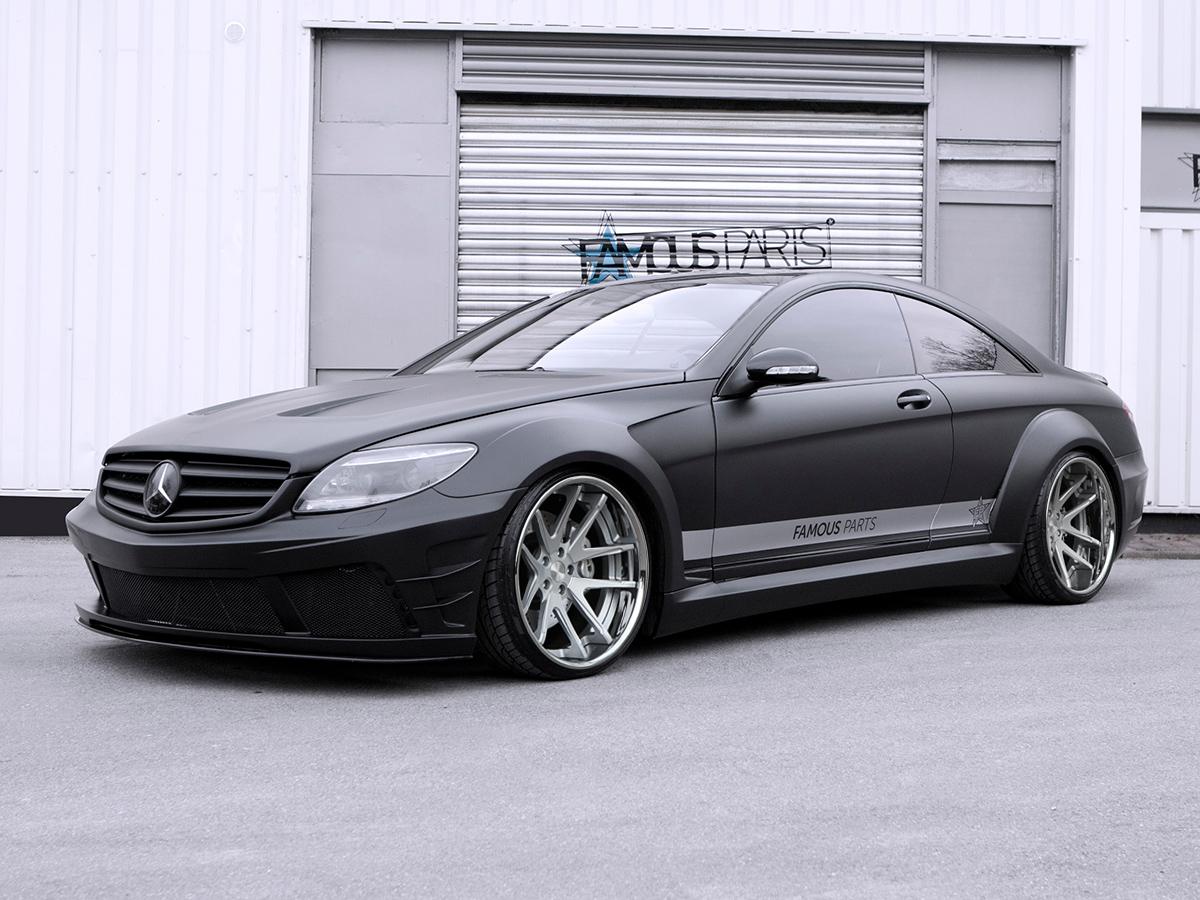 Mercedes cl 500 design amg 63 65 black series umbau mit 20 for Mercedes benz genuine polar white touch up paint code 149