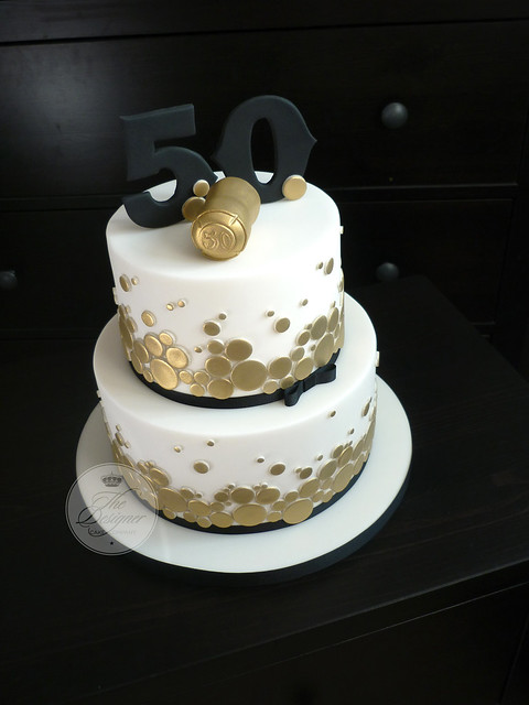 Champagne Themed 50th Birthday Cake Flickr Photo Sharing