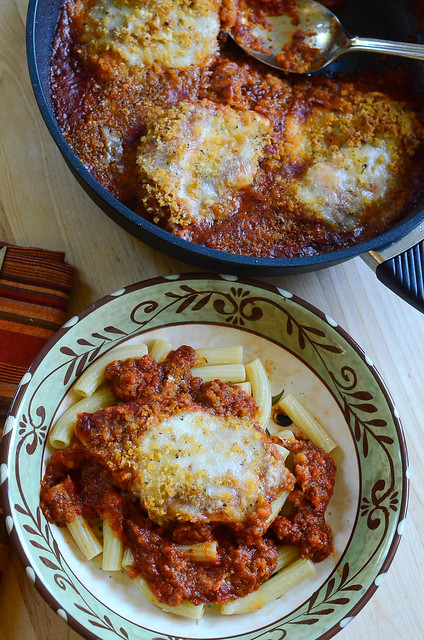 Skillet Chicken Parmesan and @Gastrolux Cookware #Giveaway