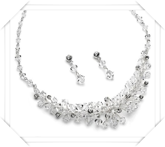 USABride Swarovski Crystal Necklace & Earrings