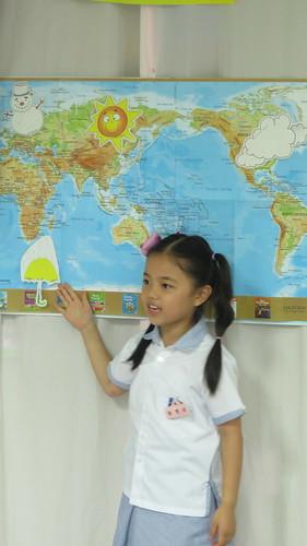 Broadcast theme English lesson at a Korean School