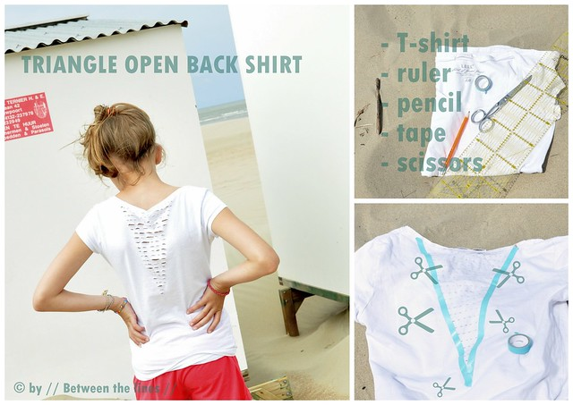 Triangle open back shirt :: a DIY