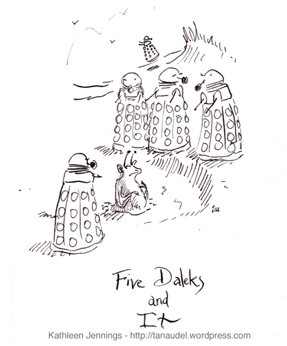 Five Daleks and It