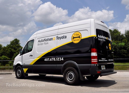 Mercedes Sprinter partial van wrap - Orlando