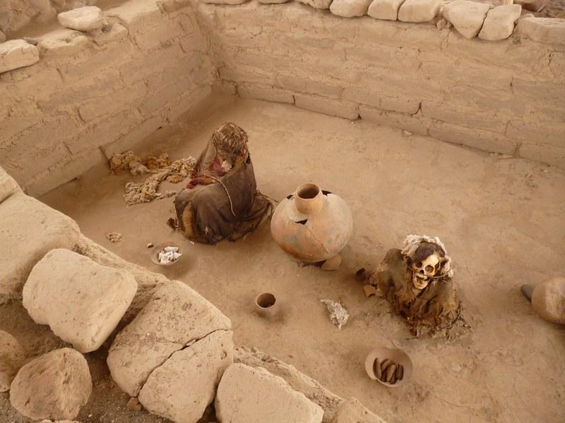 Mummies at Cemetery of Chauchilla