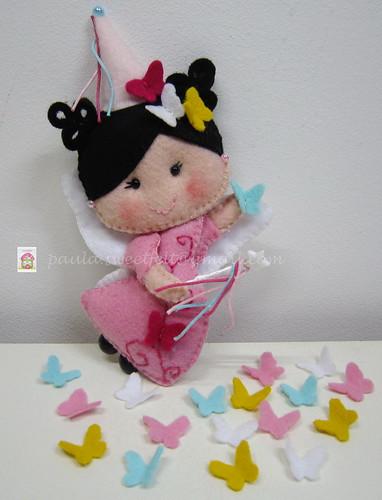 ♥♥♥ Fadinha das Borboletas... by sweetfelt \ ideias em feltro