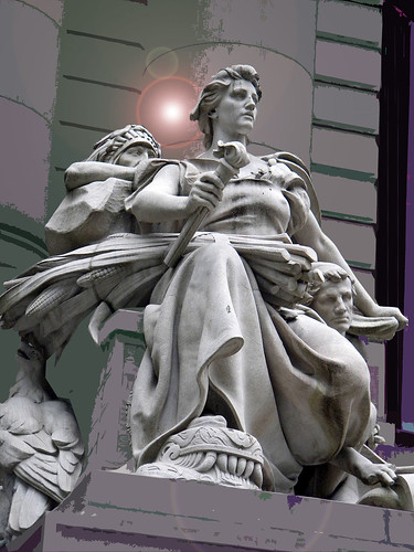 Allegorical statue of the continent of America  by Daniel Chester French NYC 2 copy