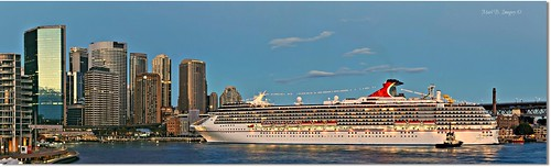 urban panorama color colour reflection sunrise flickr ship harbour pano sydney australia wideangle circularquay panoramic nsw cruiseship cbd sydneyharbour photgraphy oceanliner sydneycbd carnivalspirit markbimagery shippingliner
