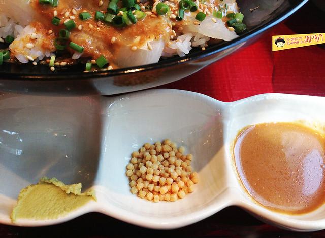 Tsukiji Restaurant  GEN-CHAN - Uzu Set toppings