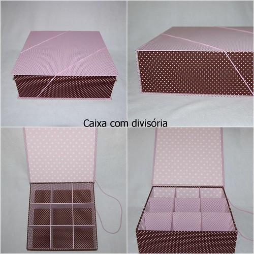 Caixa Organizadora com divisória by LEME´S ARTE / By Helenita Leme