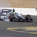 Tony Kanaan lights up his tires entering the Turn 9 chicane during qualifications at Sonoma Raceway