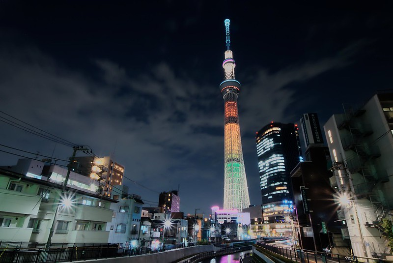 Tokyo Sky Tree Olympic color 2020