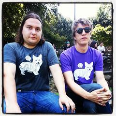 Steve Gunn & Nathan Bowles repping @wxdu #hopscotch13