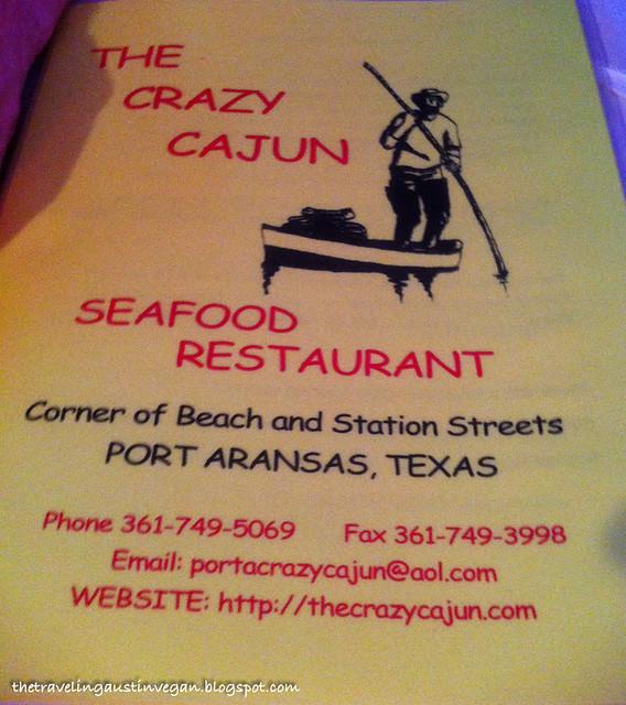 Crazy Cajun Menu - The Crazy Cajun, Port Aransas, TX