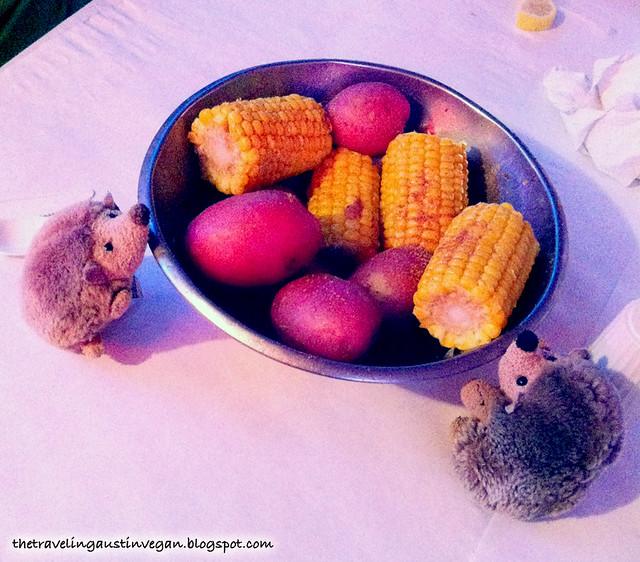 Corn & Potatoes - The Crazy Cajun, Port Aransas, TX